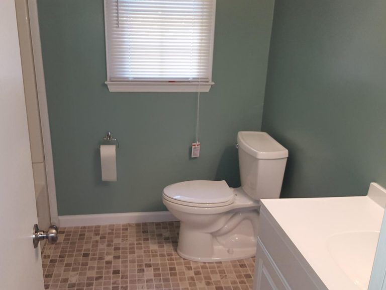 bathroom after the construction