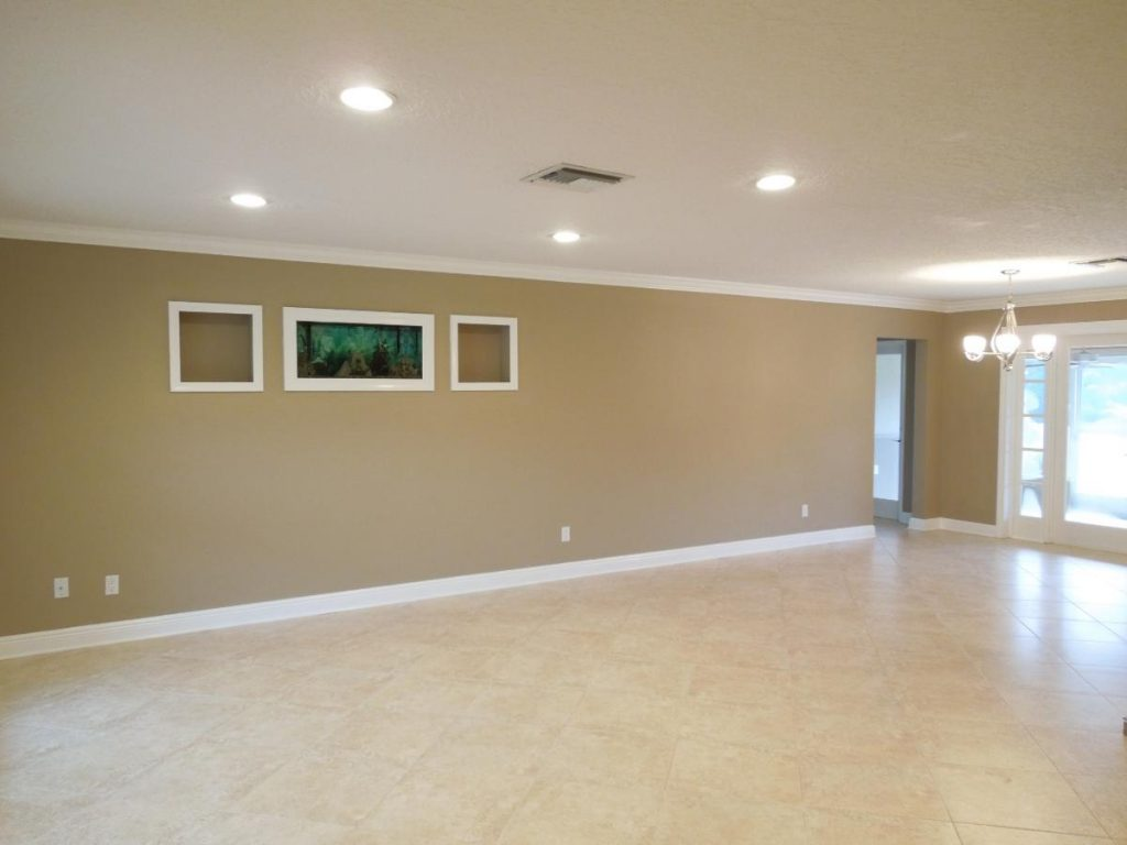 Newly painted and trim living room in Triad NC