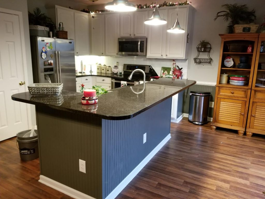 A new renovated kitchen with granite tabletop
