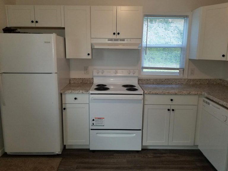 New revamped kitchen with granite cabinet top