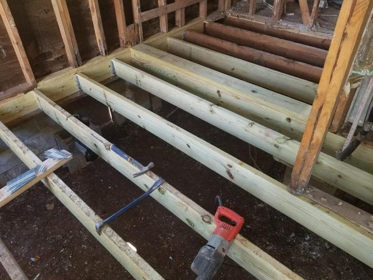 An under construction flooring of a house
