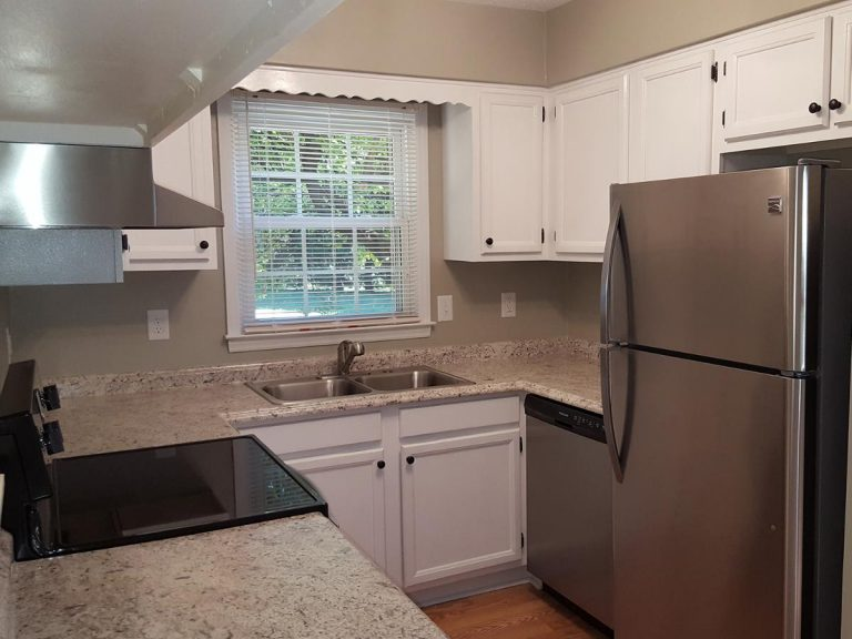Refurbish kitchen installed with granite tiles in Kernersville