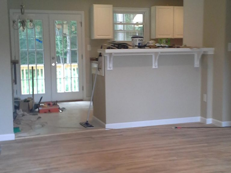 Ongoing construction of kitchen area