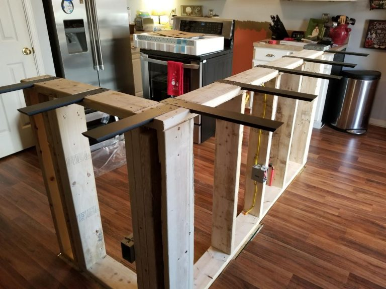 Framework of an hanging kitchen cabinet