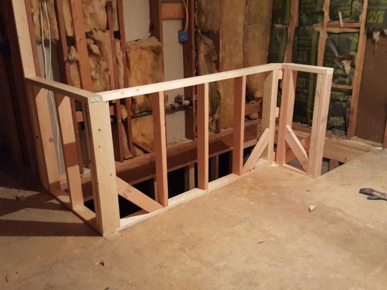 Ongoing construction of the stairs to the attic