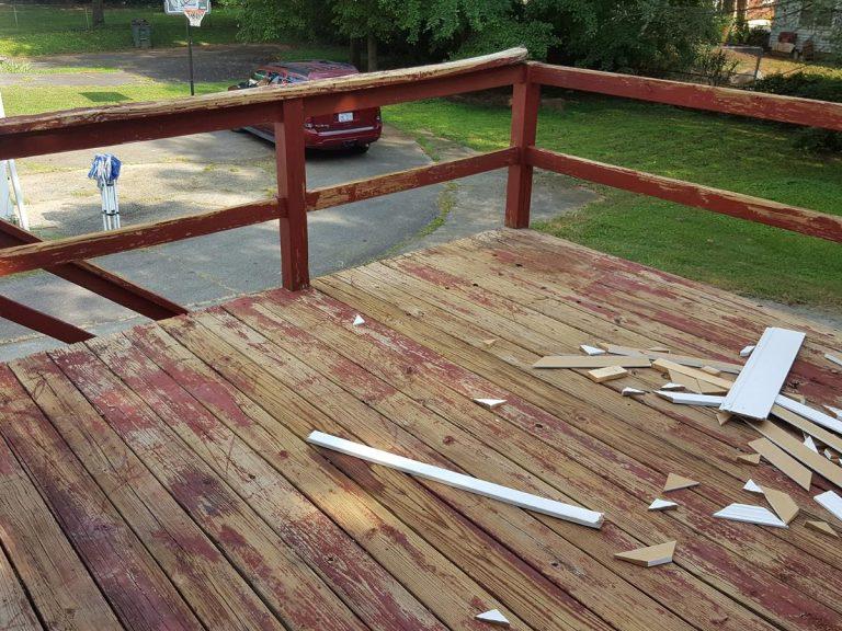 Old wooden verandah ready for renovation