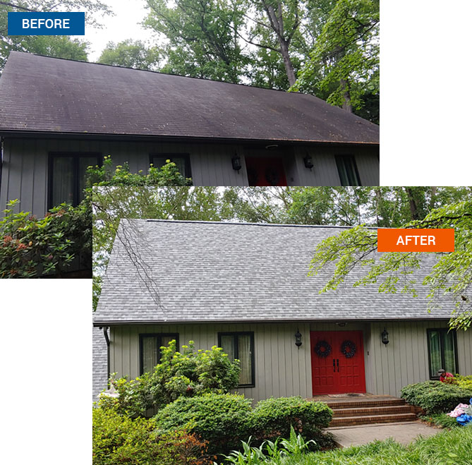 A house before and after being remodeled