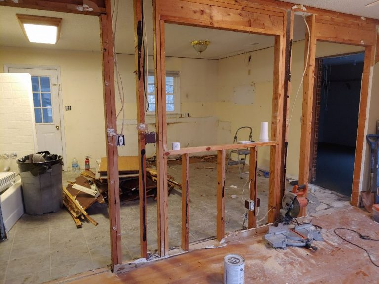 Ongoing kitchen renovation in Triad NC