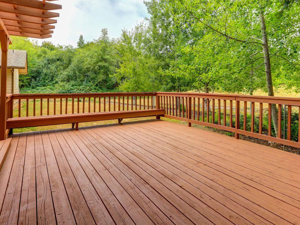 newly renovated verandah made of wood